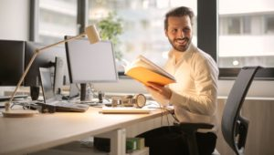 Young Professional at a desk