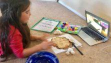 Vanessa Nolan's virtual nursery school student