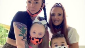 The Wiegand family, displaced by a Bristol apartment fire
