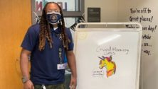 Juma Jones, custodian-artist, New Hope-Solebury Upper Elementary School