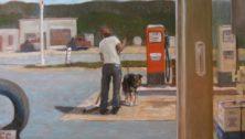 """Artist-painter Robert Beck's oil on panel """"Dog Day"""" (2012)"""