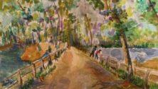 Along the River, watercolor by Ilene Rubin Doylestown