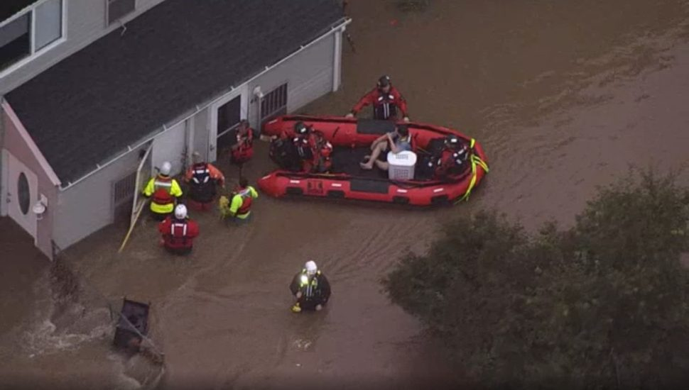 Water rescue on Bristol Pike