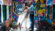 Stepanie Quigley and Dan McElwee and their nontraditional engagement pictures