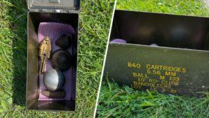 grenade, mortar tips, and fuses