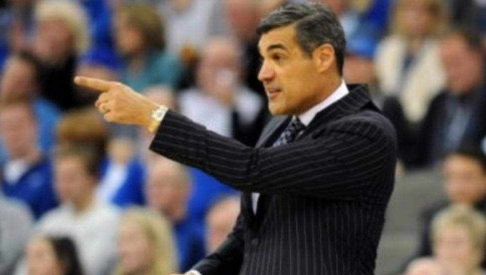 Jay Wright on the basketball court.