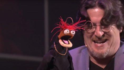 Bill Barretta and Pepe the King Prawn
