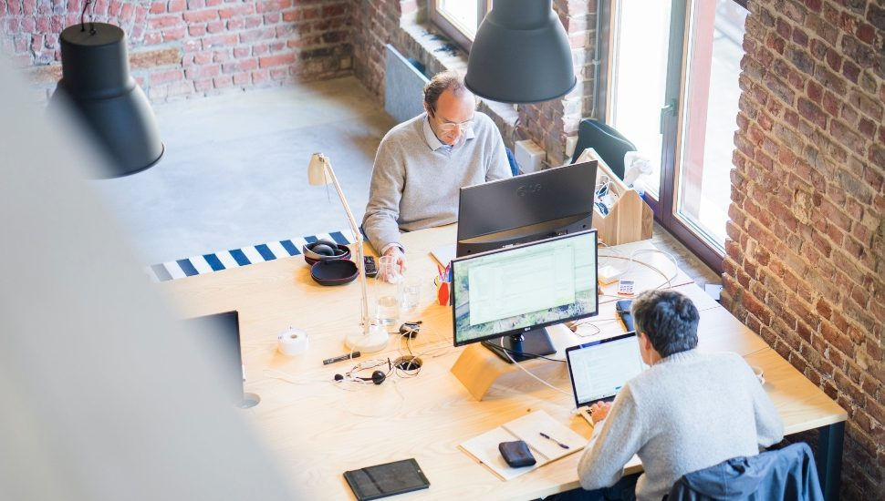 Two Entrepreneurs Planning in their office