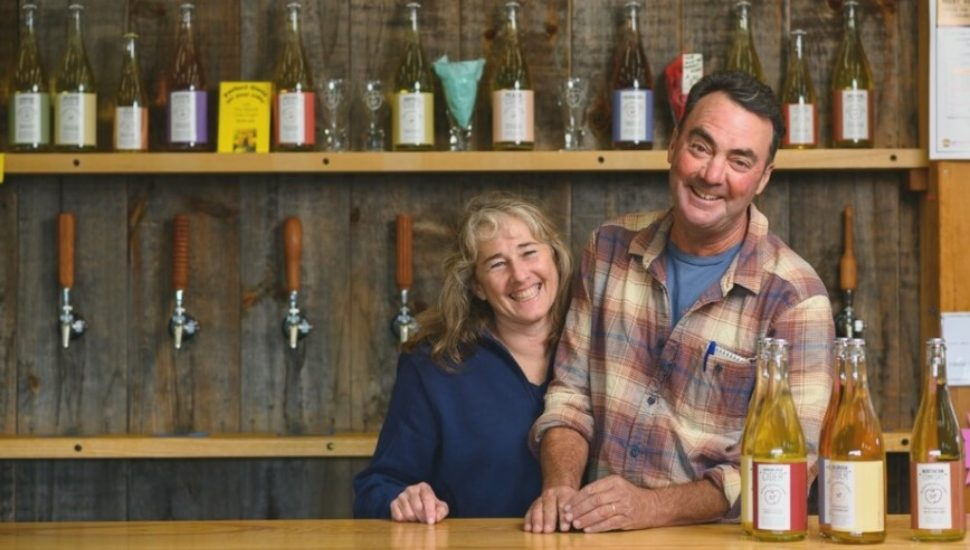 Gary and Amy Manoff, hard cider producers
