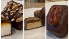 Three flavors of Malvern Road Marshmallows treats.