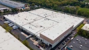 Aerial view of the warehouse at 450 Winks Lane in Bensalem