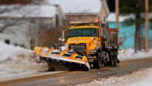 snowplowing truck