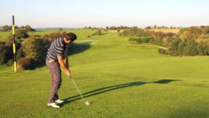 golfer chip shot