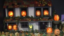 house with pumpkins