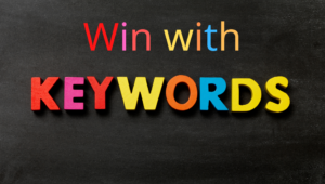 Win with Keywords Letterboard