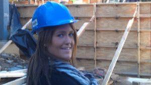 woman in hard hat